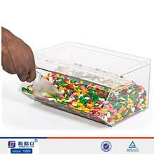 Custom acrylic box for the candy shop/ Acrylic sweet dispenser