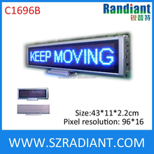 Indoor rechargeable led sign