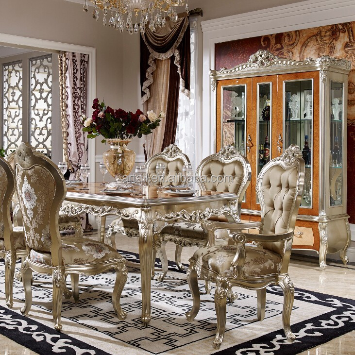 new classic furniture dining room set chair buffet cabinet no moq