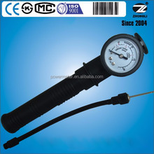 Diameter 1.5 inch basketball pressure gauge 20 psi with connection needle