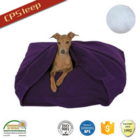 Fashion New Arrival Polyester Fiber Purple luxury pet bed