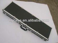 2014 new design best quality silver aluminium gun case ,size 430*330*142MM