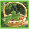 New china products white willow baskets with handles