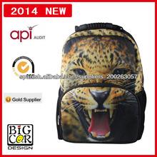 mochila leopardo de moda para niñas,niños mochila