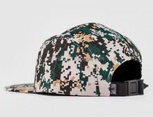 FLat brim snapback cap/camo military heavy brushed cotton baseball cap