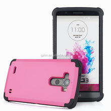 For LG G3 hard plastic and TPU combo cover case