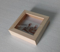 unfinished wooden photo frame to decoration