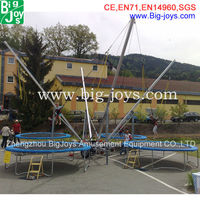 commercial 4 in 1 bungee trampoline price, high quality outdoor bungee jumping trampoline for sale