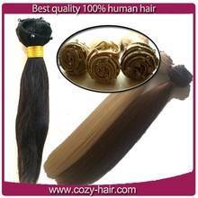 8 inch virgin remy brazilian hair weft,straight micro beads human hair weft