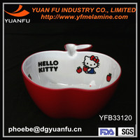 High quality melamine color apple shape bowl