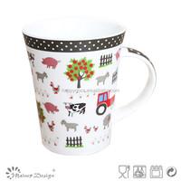 all kinds of new bone china mug/2015 hot selling products/pig shaped mug