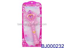 Fancy girls toy led flashing pink princess toy wand musical magic stick children fairy wand