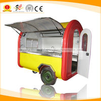 CE OEM GAS/ELECTRICAL hot dog/hamburger food box for trailer BIG WHEEL and TOWED BAR