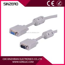 vga cable max resolution XZRV005/Gold connector vga cable with ferrite
