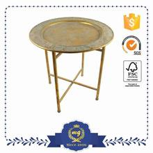 Reasonable Price Customized Logo Printed Foldable Metal Table Legs Adjustable Height