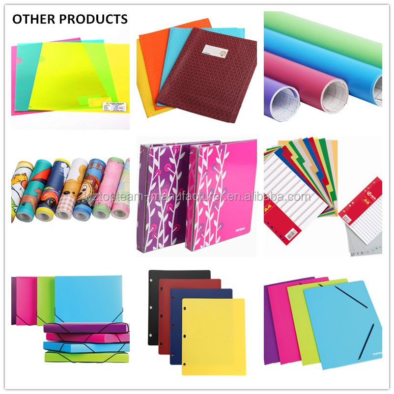 Assorted A4 cardboard paper file folder with elastic bands