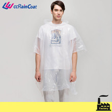 ldpe pe disposable clear plastic rain coats for riding plastic rain coat