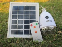 Mini Home application 5w 9V 400mA solar generator bulb kit with remote controller and usb charger