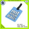 High quality cheap pvc rubber custom travel luggage tag