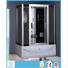 China bathroom designs prefab modern cabins sliding glass shower door steam and massage mixer box doccia ikea cabin