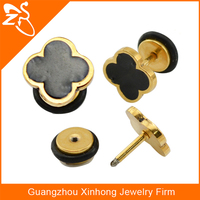2015 Wholesael fashion jewelry Fake Cheater Gold Ear Stretcher Gauges Plugs Tunnel Piercing Jewelry