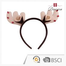 2015 hot sale deer antlers headband soft fabric christmas fashion headband