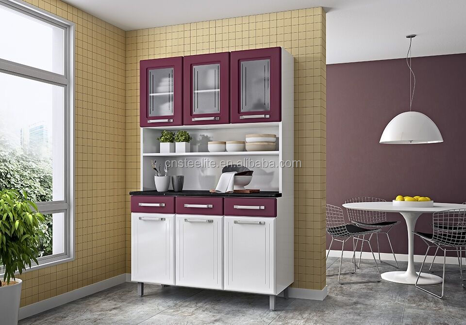High Gloss Factory Price Metal Kitchen Unit Kitchen Cabinet Design 3