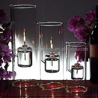 HOT SALE! decorative indoor small decorative glass oil lamp