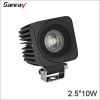 mini 2.5 inch 10w 12v outdoor led work lighting for bicycle/motorcycle