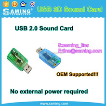 USB 3D Sound Card Audio Adapter Virtual 7.1 Channel for PC or Laptop