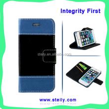 For iPhone6 Case Leather, For iPhone Case, For iPhone 6 For iPhone 6 Plus Factory Wholesale Contrast Color