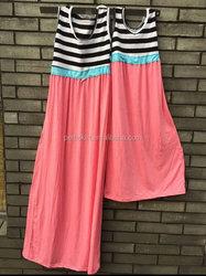 Latest dress design mom and me comfotable cotton maxi dress plus size women clothing family dress set