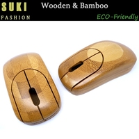 2015 high quality wood computer mouse bamboo wireless mouse