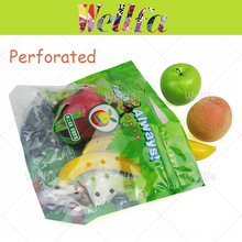 Logo Print Perforated Plastic Bags For Fruit & Vegetable Perforated Poly Bags