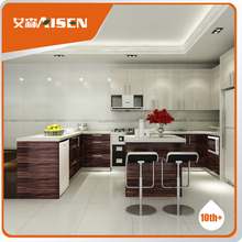 free design wood cover wood veneer Kitchen Cabinet