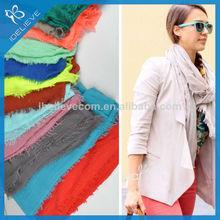yiwu directa de la fábrica de algodón mujeres bufanda mantón de la moda