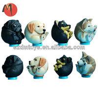 small antique plastic dog figurines