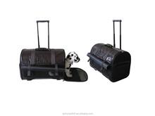 Wholesale cute pet carrier portable foldable pet bag dog bag trolley carrier