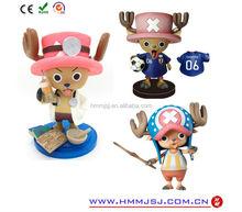 Custom Japanese Anime one piece action figure,chopper, luffy plastic toys, china manufactory