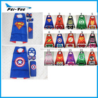 Hotsale 2015 Superhero Captain America cape Hulk superman cape for Child cosplayHalloween costumes for kids