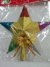 High quality Painting christmas tree top star xmas decoration ornament