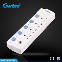 13A surge protector 3 pin plug power usb socket