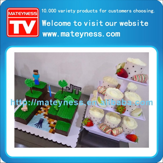 Collation serveur 3 Stand de gâteau à plusieurs niveaux