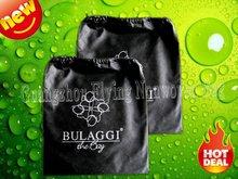 fashion black cotton drawstring shoe bag