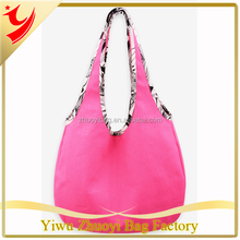 ZY181 custom heavy canvas sling bag blank pink