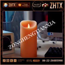 New design flameless moving wick led candle with CE certificate