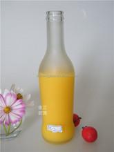 280ml Soda beverage glass bottle sparkling water bottle with metal cap
