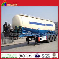 dry bulk cement powder meterial tanker semi truck trailers for sale