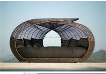 Outdoor big round rattan garden furniture for sale (DH-9629)