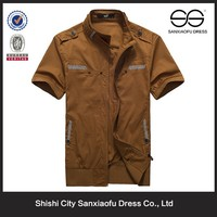 Summer Promotional Dress Shirt For Men, High Quality Plain T-shirt Cotton Fabric Used